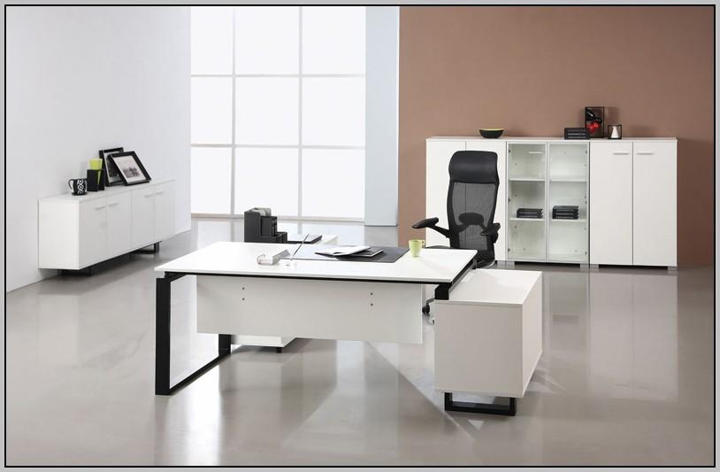Modern Executive Desk White