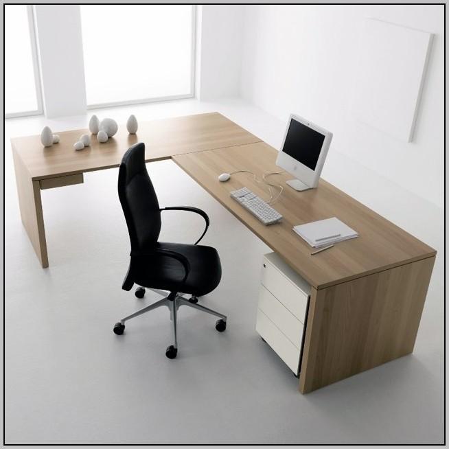 Modern White L Shaped Desk