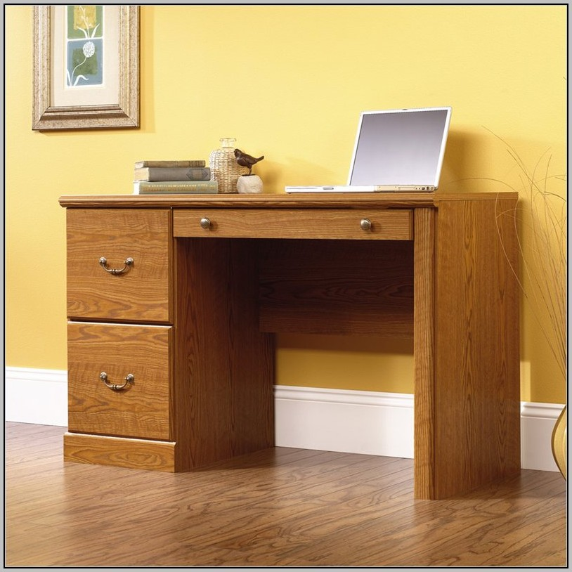 Oak Computer Desk With Filing Drawer