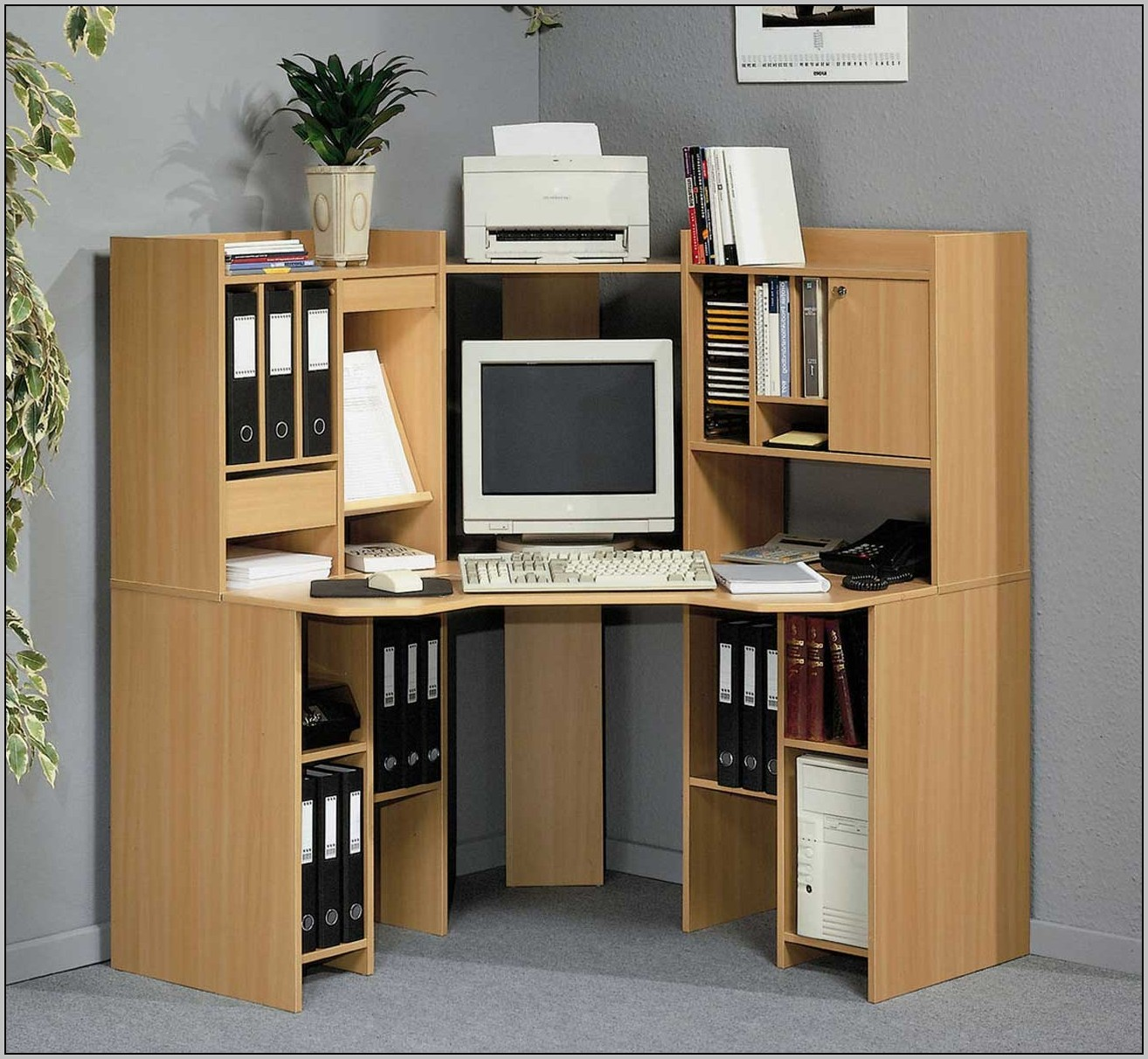 Office Depot Desk With Hutch