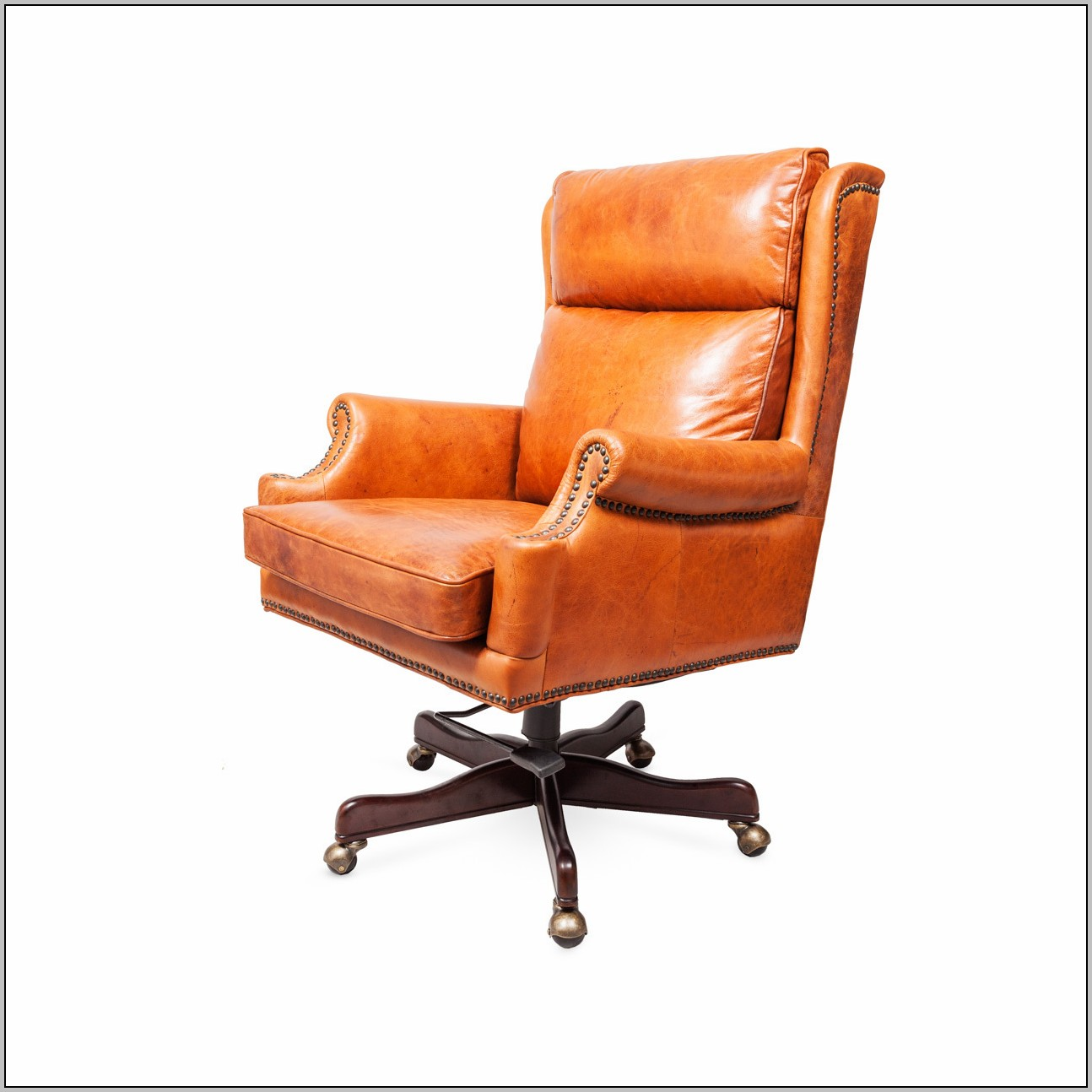 Orange Office Chair Leather