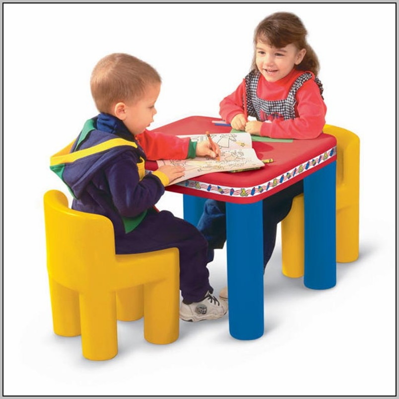 Plastic Toddler Desk And Chair Set