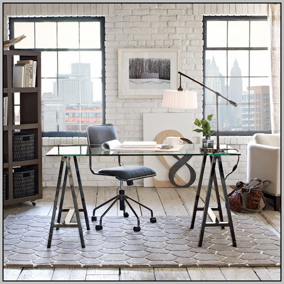 Pottery Barn Sawhorse Desk