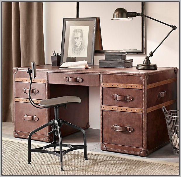 Restoration Hardware Desk Trunk