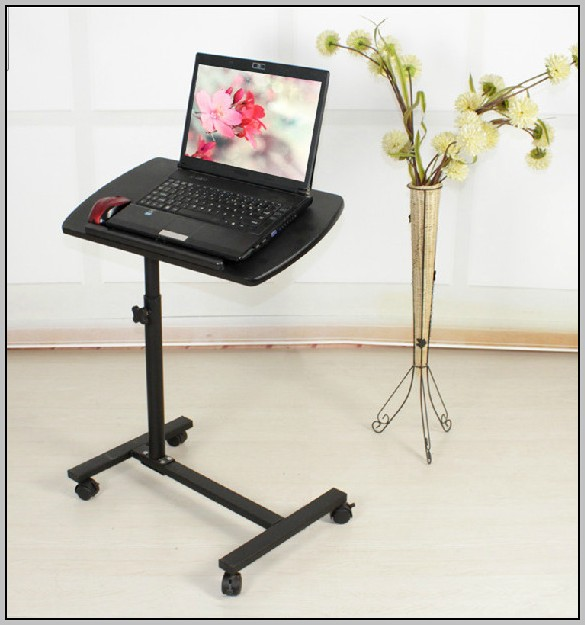 Rolling Computer Desk Adjustable Height