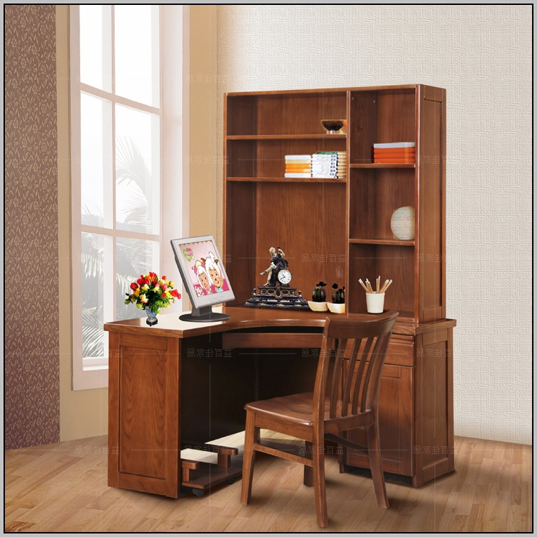 Rustic Corner Computer Desk