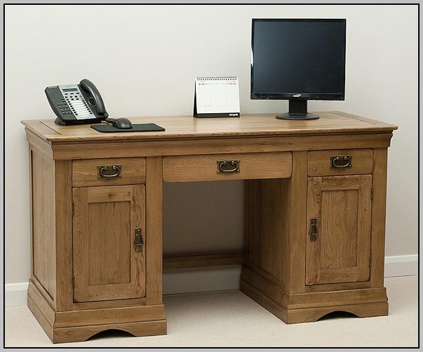 Rustic Oak Computer Desk