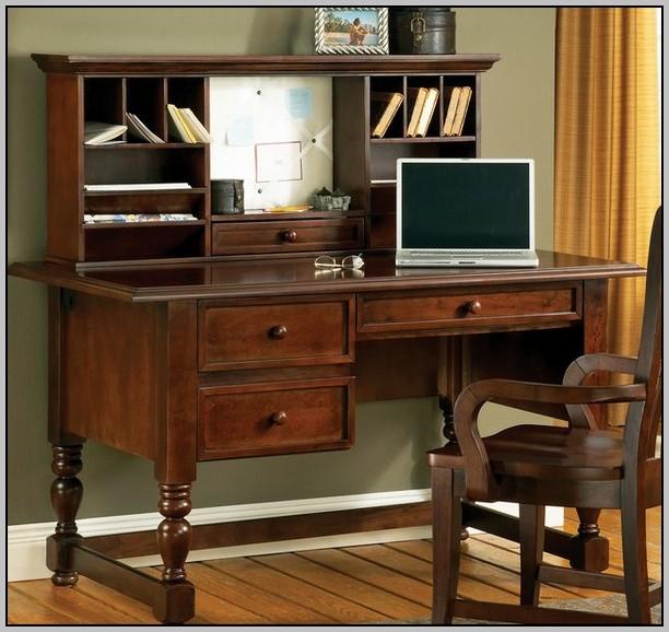 Sauder Edge Water Computer Desk And Hutch Set In Estate Black