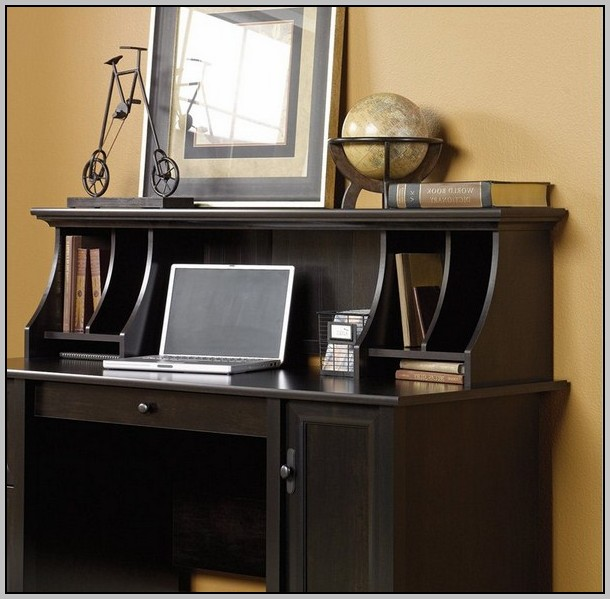 Sauder Edge Water Computer Desk Estate Black Finish
