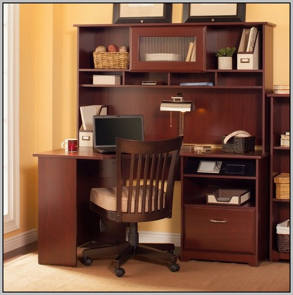 Sauder Harbor View Computer Desk With Hutch Antiqued Paint