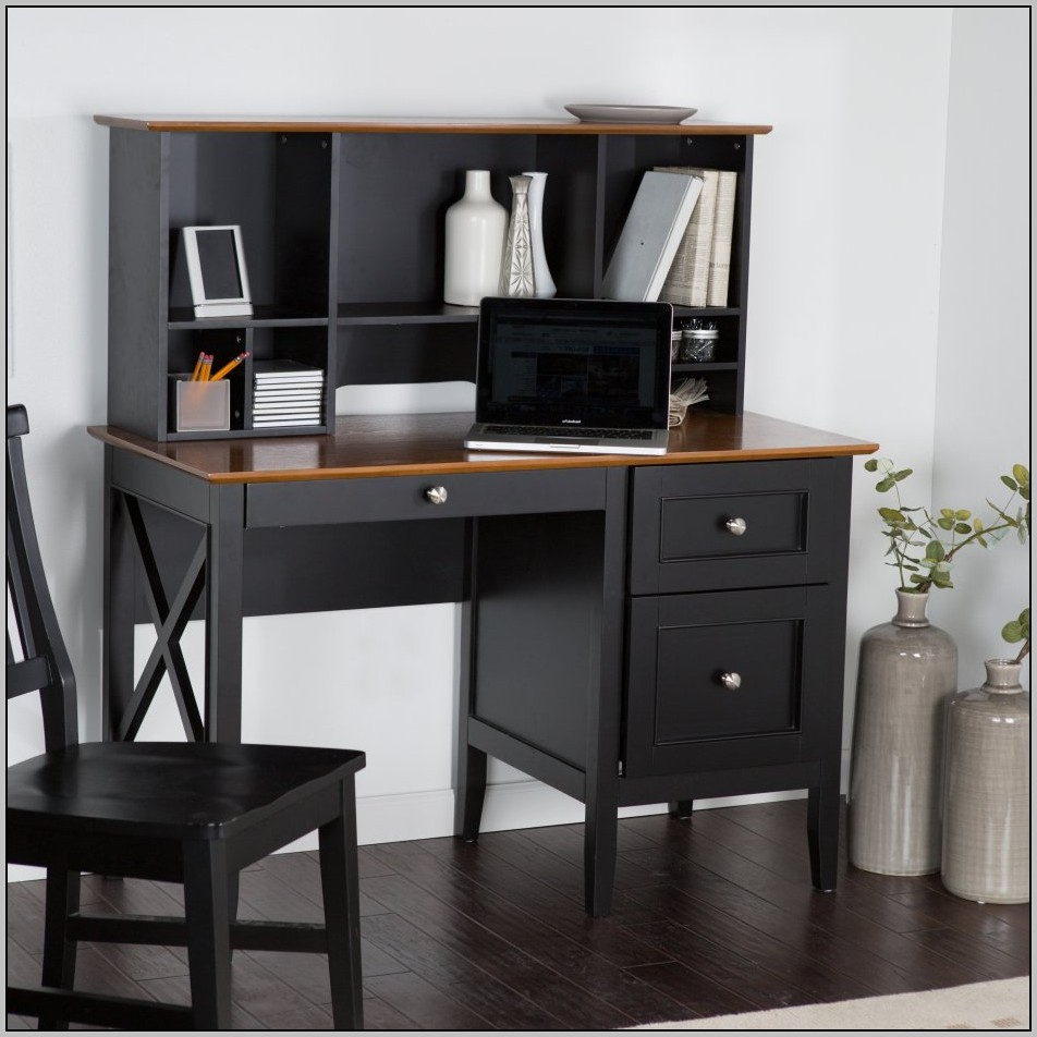 Small Black Desk With Drawers