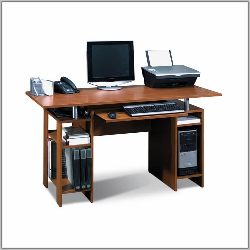 Small Computer Desk With Keyboard Tray