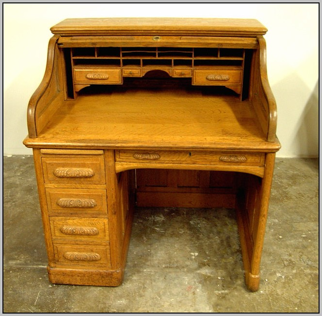 Small Roll Top Desk Antique