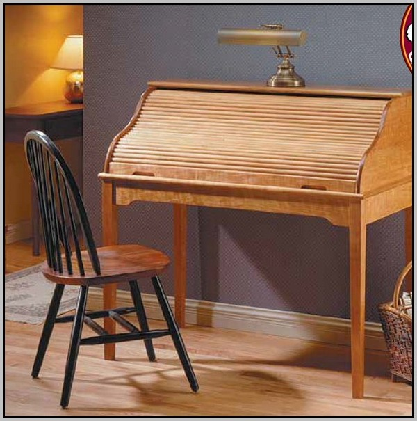 Small Roll Top Desk Cherry