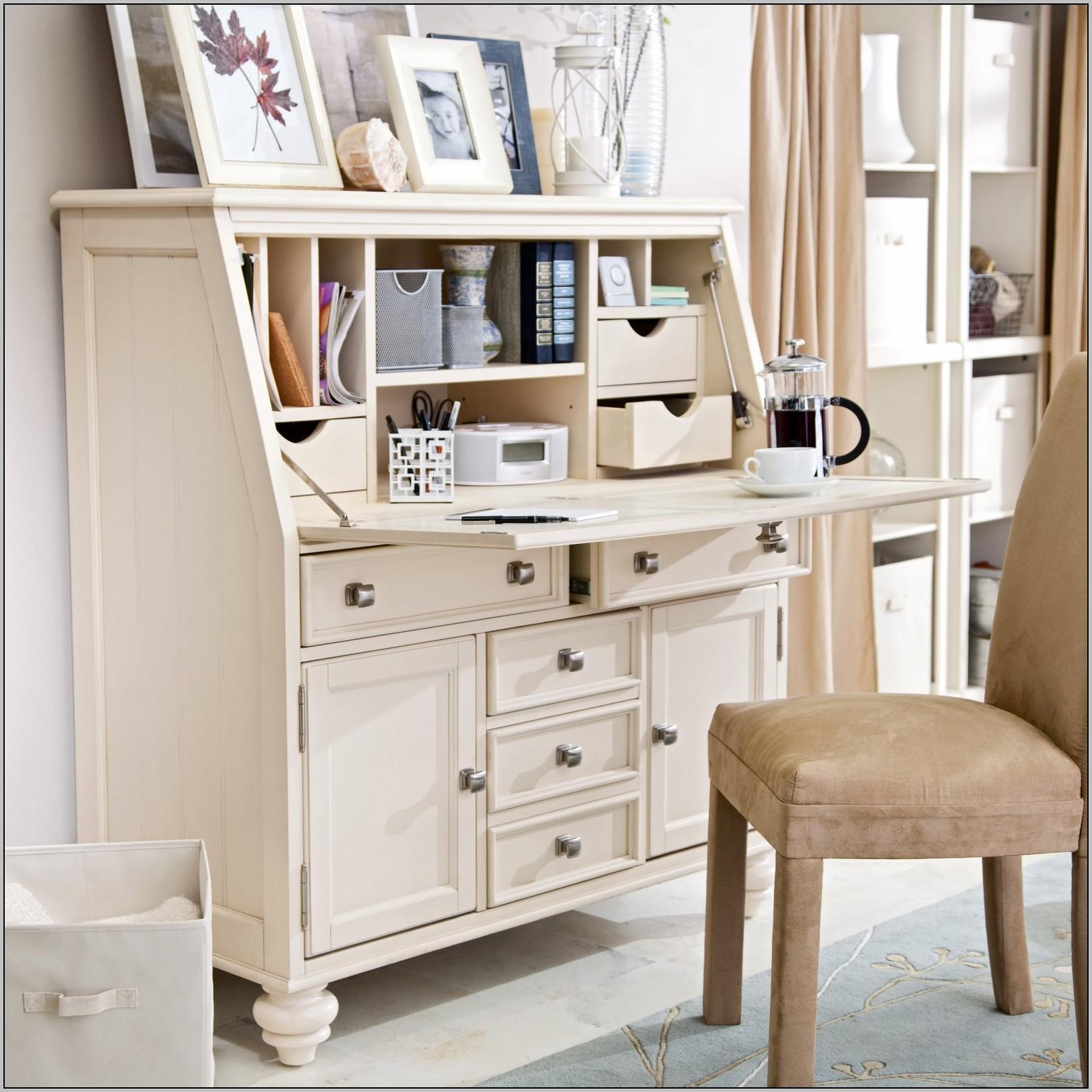 Small Secretary Desk White