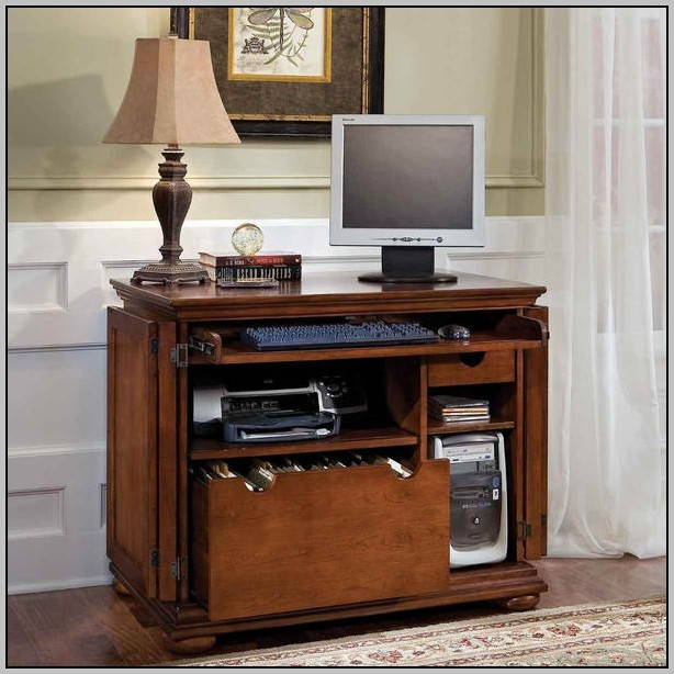 Small Space Desk With Hutch