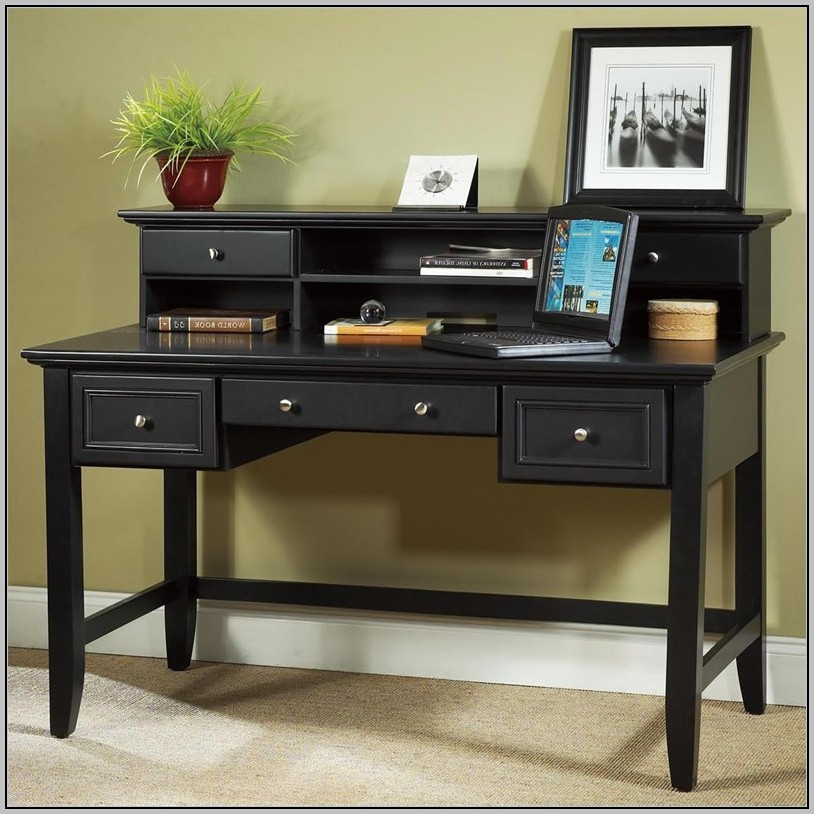 Small Wood Desk With Hutch