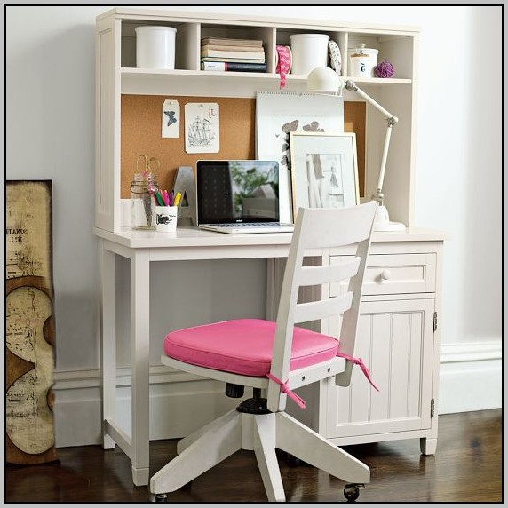 Space Saving Desk With Hutch