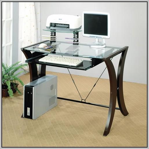 Student Computer Desk With Back Shelf