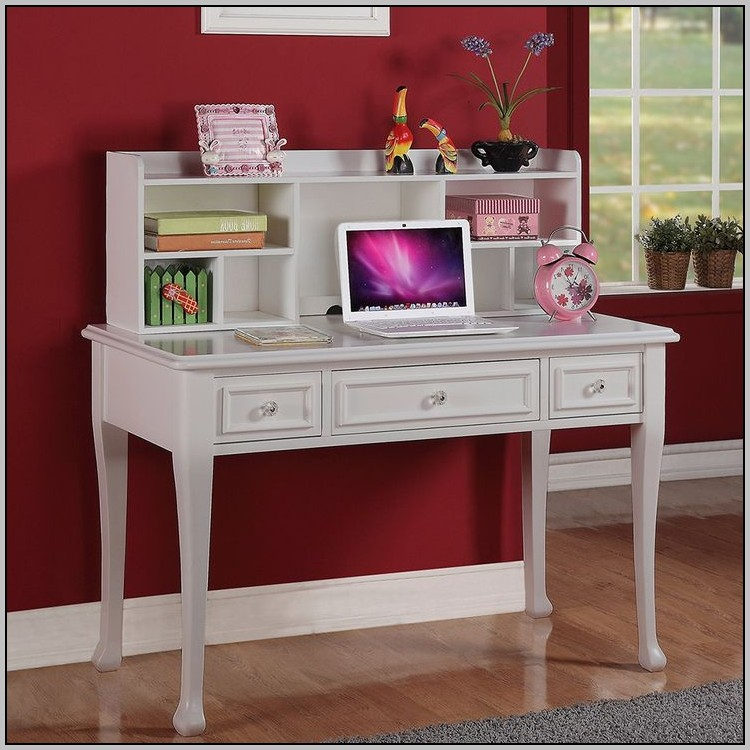Student Desk With Hutch White