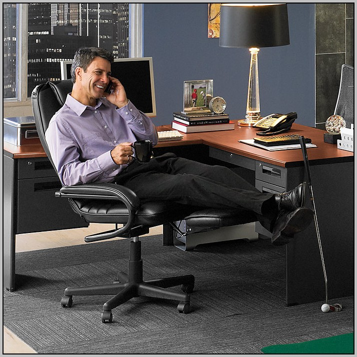 Tall Desk Chair With Footrest