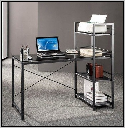Techni Mobili Computer Desk Glass