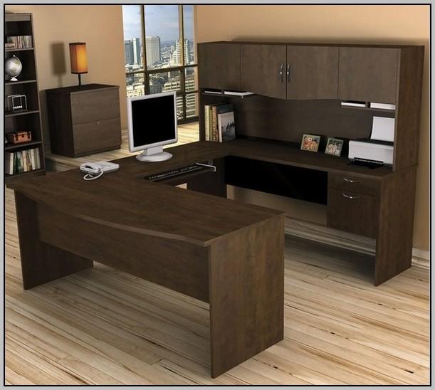 Techni Mobili Computer Desk With Storage Chocolate