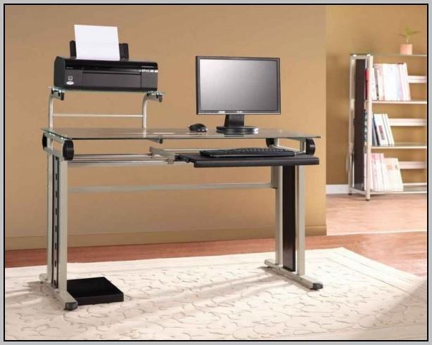 Under Desk Printer Stand Black