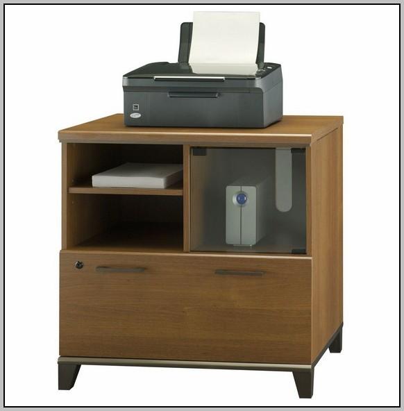 Under Desk Printer Stand Wood