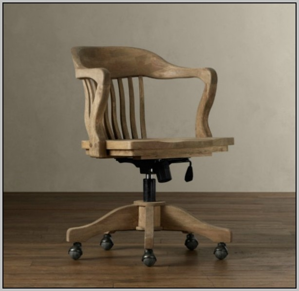 Vintage Desk Chair Leather