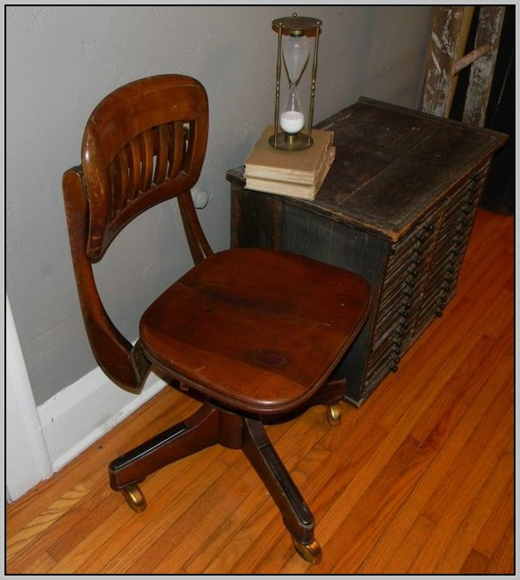 Vintage Desk Chair Wooden