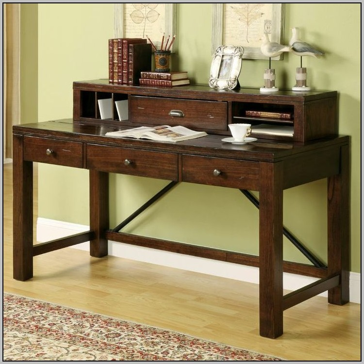 Vintage Writing Desk With Hutch