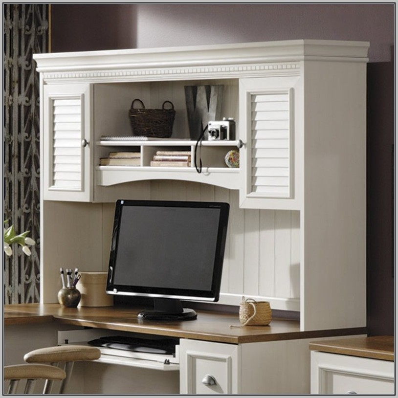 White Desk Hutch Only
