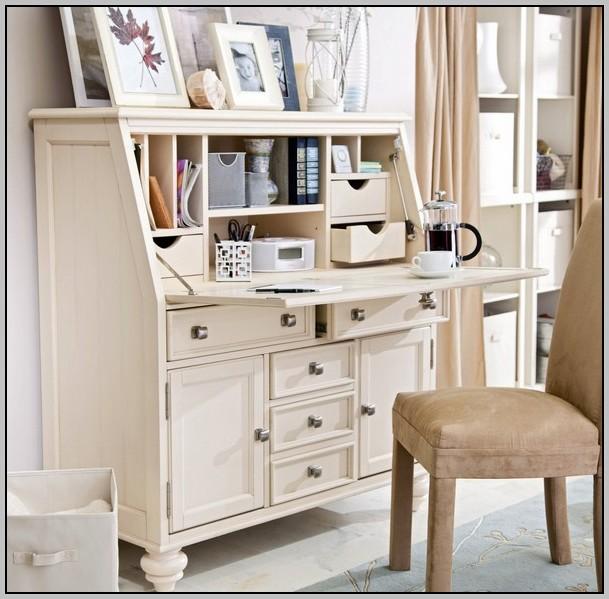 White Secretary Desk Small