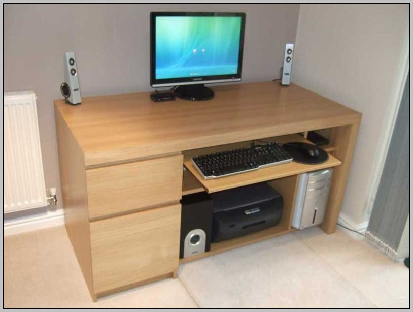 Wood Computer Desk Chair