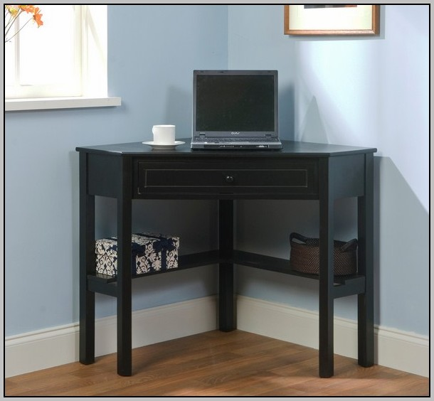 Wood Corner Desk With Drawers