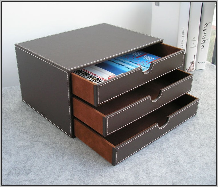 Wood Desk Organizer With Drawers