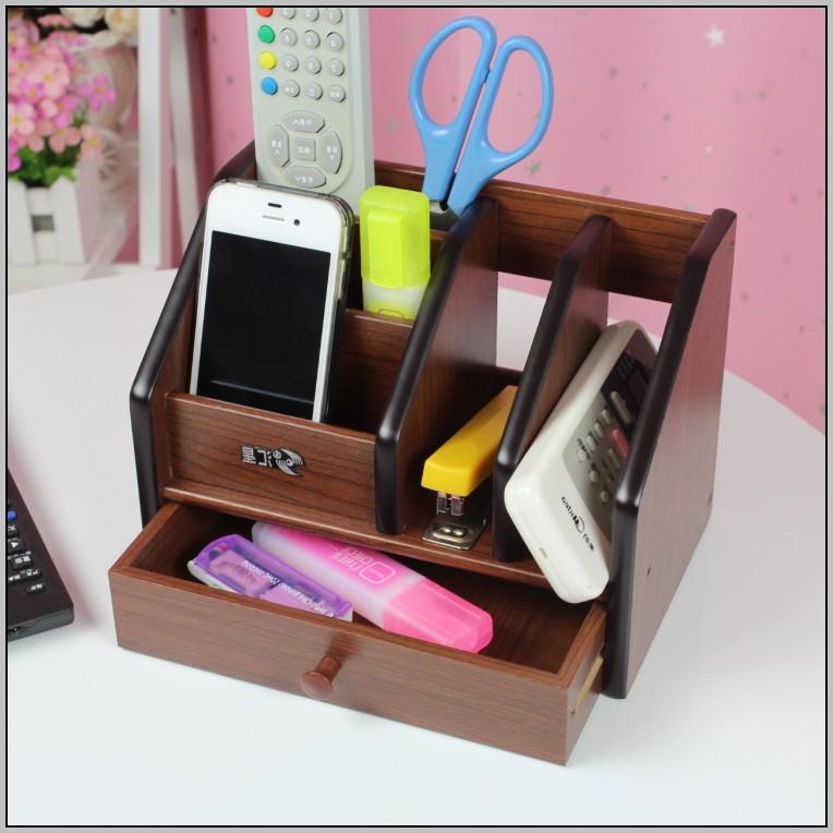 Wood Desktop Organizer With Drawers