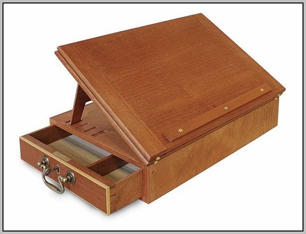 Wood Lap Desk With Storage