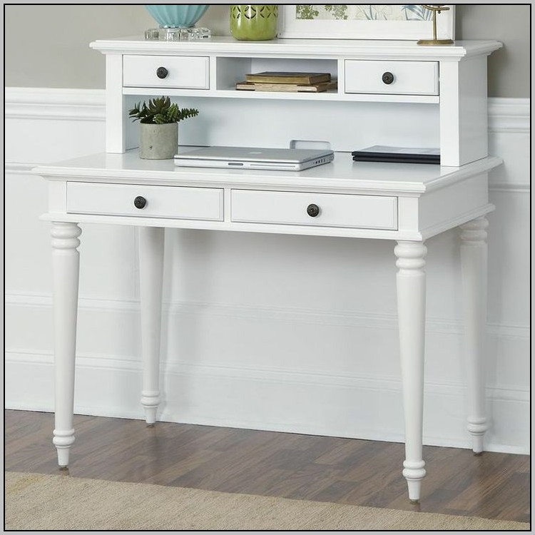 Writing Desk With Hutch White