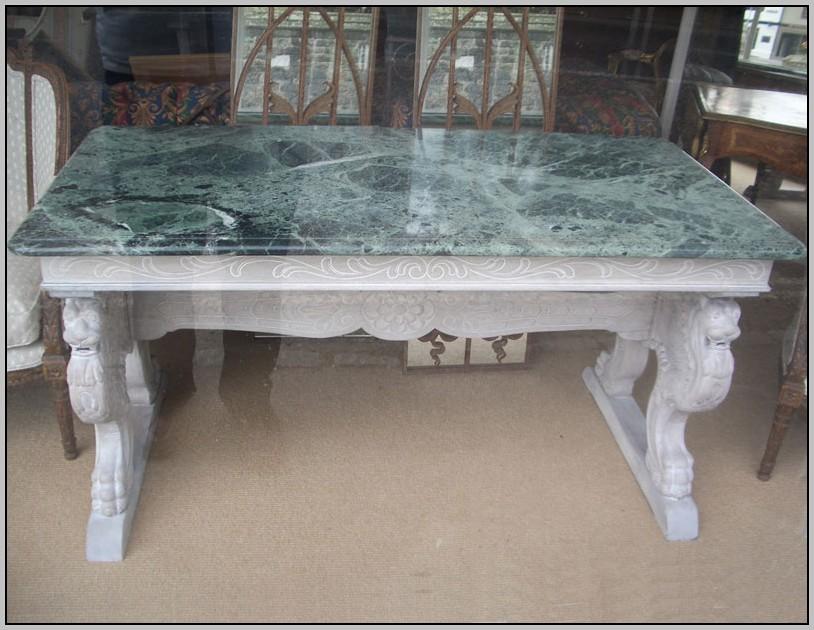 Antique Marble Top Desk