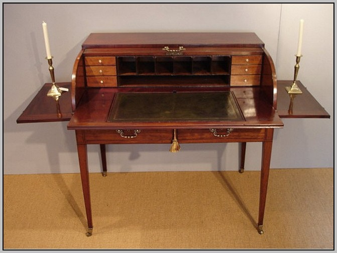 Antique Mirrored Writing Desk