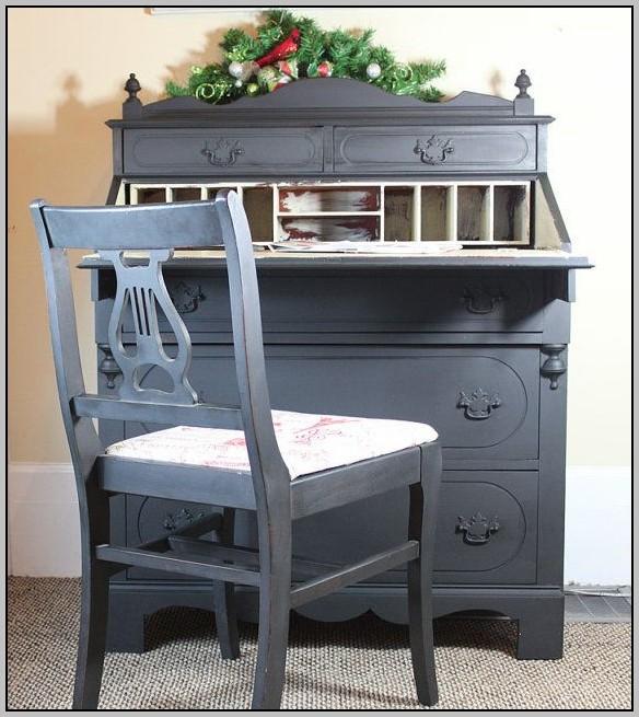 Antique Painted Secretary Desk