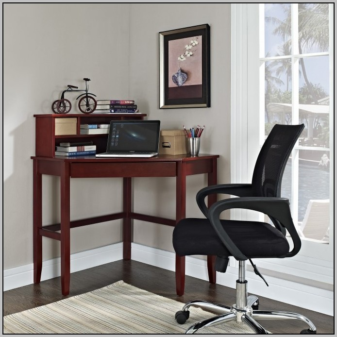 Axess Small Wood Computer Desk With Hutch