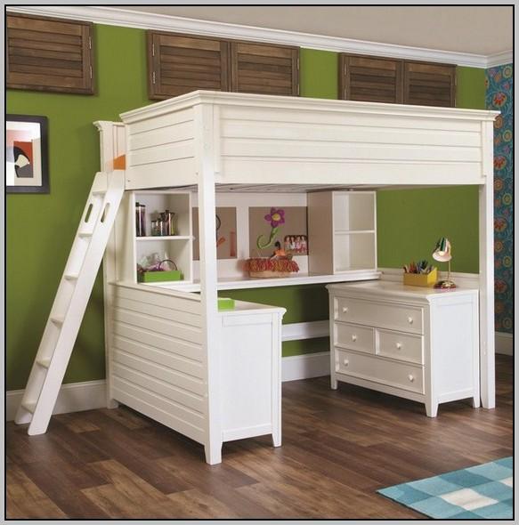 Bed Desk Dresser Combo
