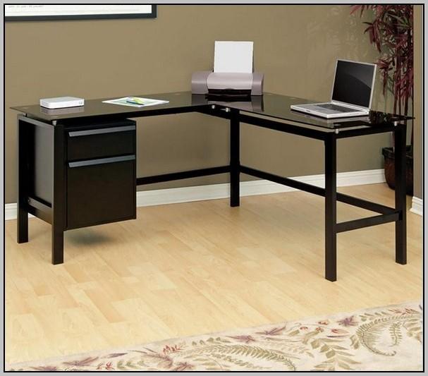 Black Computer Desk L Shaped