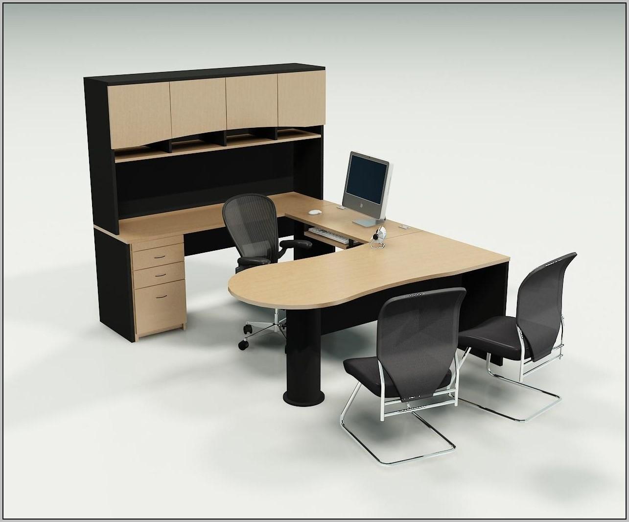 Black Executive L Shaped Desk