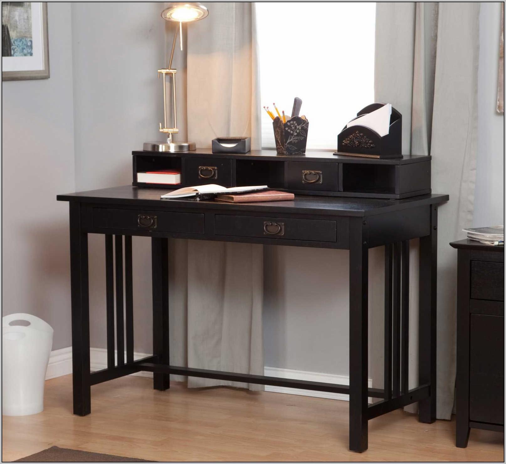 Black Glass Writing Desk