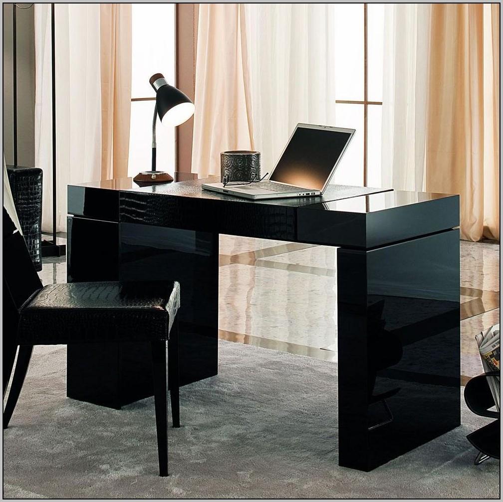 Black Gloss Reception Desk