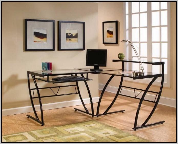 Black L Shaped Gaming Desk